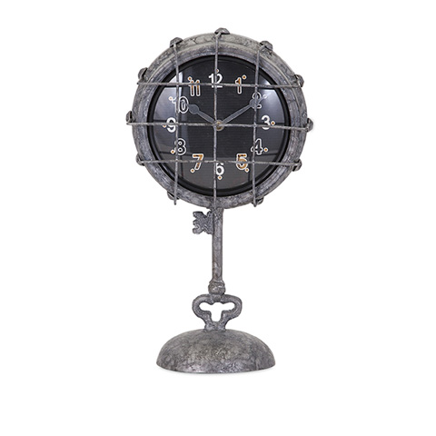 IMAX Worldwide Home - Ella Elaine Metal Pedestal Clock - 47607