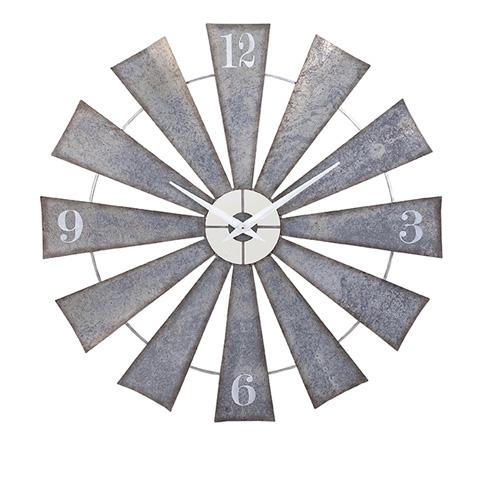 IMAX Worldwide Home - Ward Metal Windmill Wall Clock - 47608