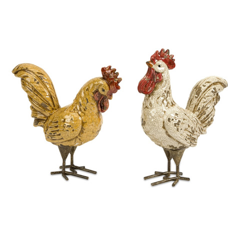 IMAX Worldwide Home - Parson Roosters - Set of 2 - 50294-2