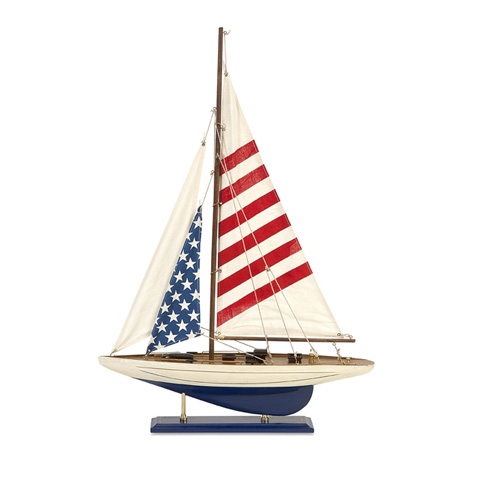 IMAX Worldwide Home - Carter American Flag Sailboat - 50765