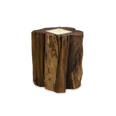 IMAX Worldwide Home - Medium Teakwood Candle - 51367