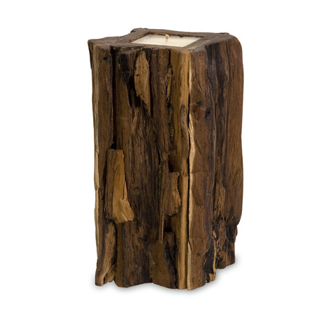 IMAX Worldwide Home - Large Teakwood Candle - 51368