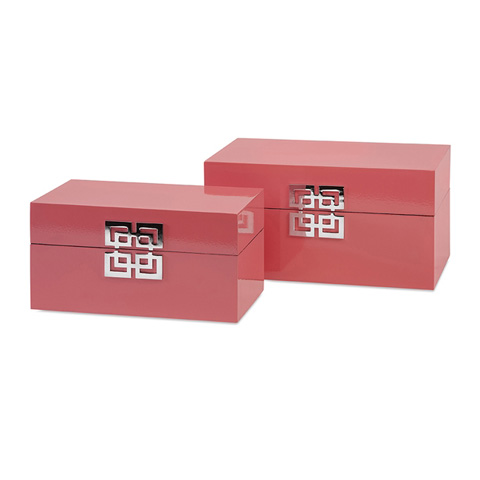 IMAX Worldwide Home - Danes Pink Boxes - Set of 2 - 52031-2