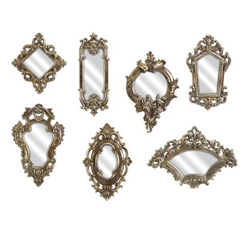 IMAX Worldwide Home - Loletta Victorian Inspired Mirrors - Set of 7 - 52977-7