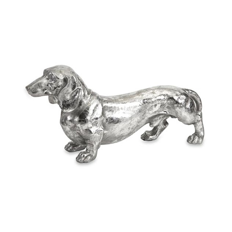 IMAX Worldwide Home - Oscar Stick Silver Dog Statue - 53063
