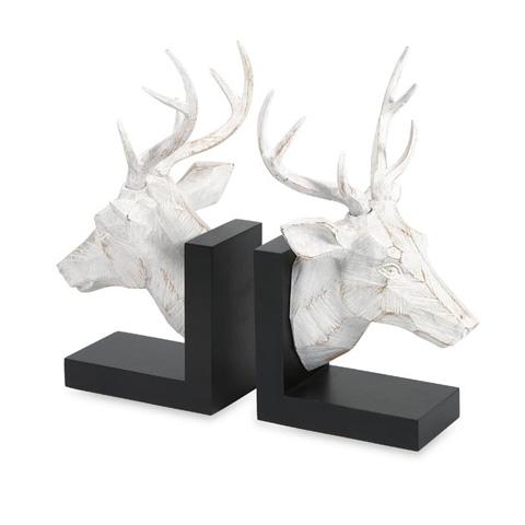 IMAX Worldwide Home - Joseph Deer Bookends - Set of 2 - 53071-2