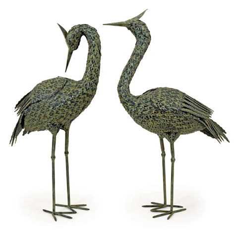 IMAX Worldwide Home - Metal Coastal Birds - Set of 2 - 5706-2