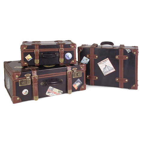 Image of Labeled Suitcases - Set of 3