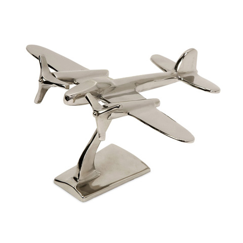 IMAX Worldwide Home - Up In The Air Plane Statuary - 60067