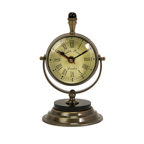 IMAX Worldwide Home - Soren Brass Table Clock - 60082
