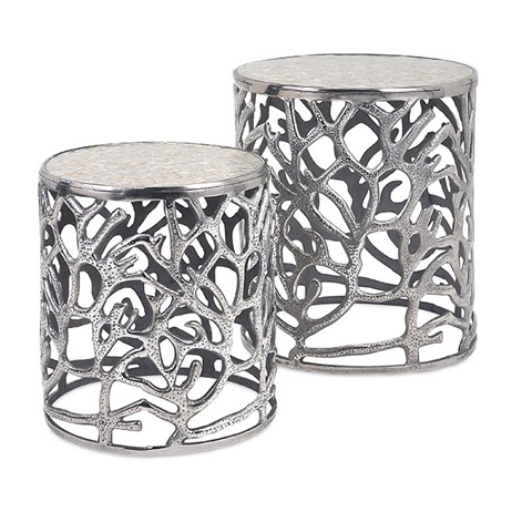 IMAX Worldwide Home - Daltry Coastal Tables - Set of 2 - 60150-2