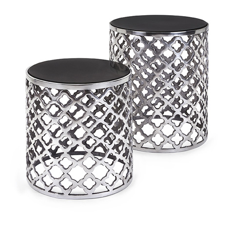 IMAX Worldwide Home - Aden Black Marble Top Tables - Set of 2 - 60174-2