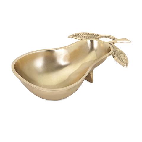 IMAX Worldwide Home - Viola Gold Pear Dish - 60323