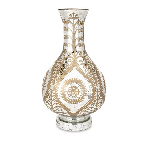 Image of Carmina Oversized Etched Glass Vase