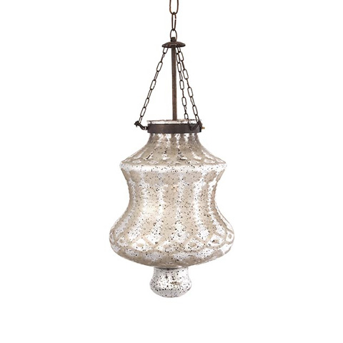 IMAX Worldwide Home - Cadel Etched Glass Pendant Light - 62123