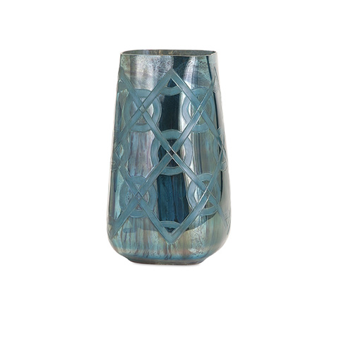 IMAX Worldwide Home - Piper Blue Small Etched Vase - 62211