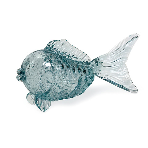 IMAX Worldwide Home - Pisces Glass Fish Tabletop Statuary - 63112