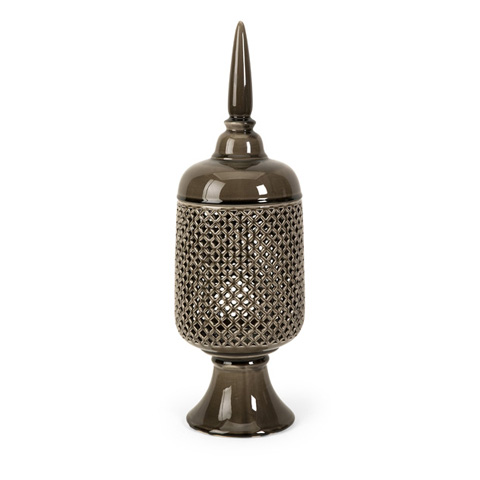 IMAX Worldwide Home - Polard Large Cutwork Canister with Lid - 64184