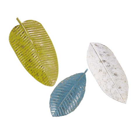 Image of Palm Beach Leaf Tray Wall Decor - Set of 3