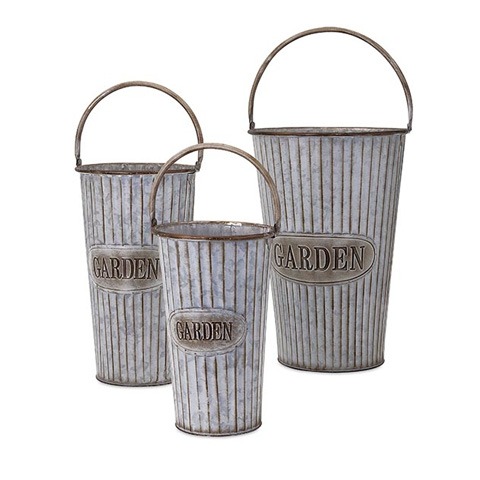 IMAX Worldwide Home - Jaden Metal Flower Pots - Set of 3 - 65205-3