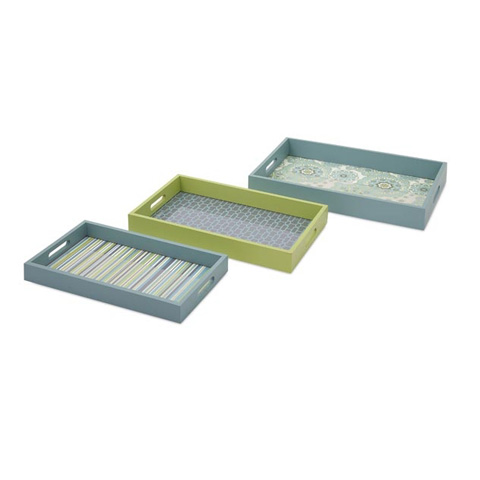 IMAX Worldwide Home - Essentials Reflective Tray - Set of 3 - 65301-3