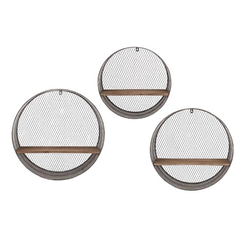 IMAX Worldwide Home - Laurel Round Wall Shelves - Set of 3 - 65320-3