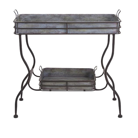 IMAX Worldwide Home - Maggie Galvanized Tray Table - 65361