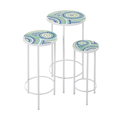 IMAX Worldwide Home - Laguna Mosaic Tables - Set of 3 - 65372-3