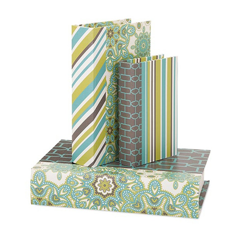 IMAX Worldwide Home - Essentials Reflective Book Boxes - Set of 3 - 65384-3