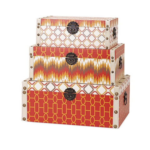IMAX Worldwide Home - Essentails Energetic Storage Boxes - Set of 3 - 65392-3