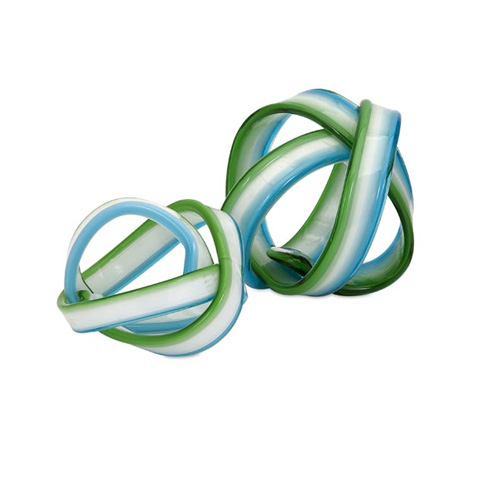 IMAX Worldwide Home - Cambria Glass Knot - Set of 2 - 65437-2