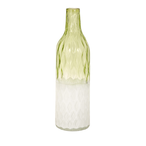 IMAX Worldwide Home - Rigney Green and White Glass Vase - 65450