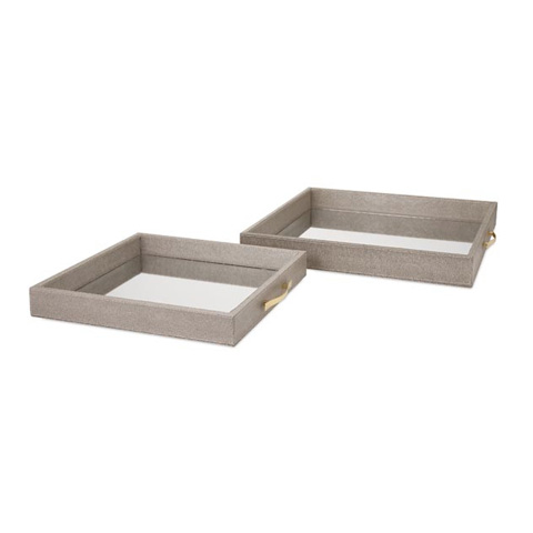 IMAX Worldwide Home - BK Mirrored Trays - Set Of 2 - 65461-2