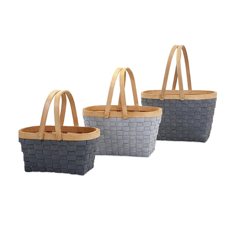 IMAX Worldwide Home - Woodrow Natural Woven Baskets - Set of 3 - 67231-3