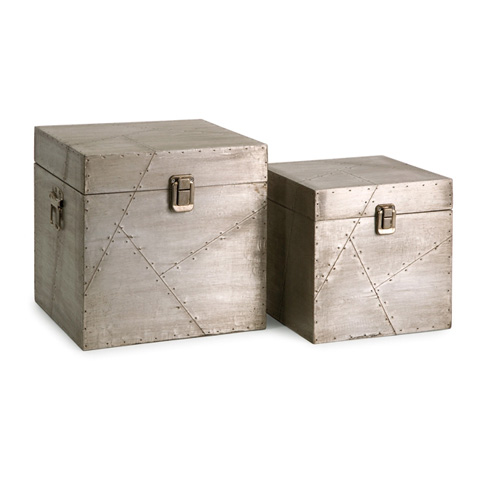 IMAX Worldwide Home - Jensen Aluminum Clad Boxes - Set of 2 - 68045-2