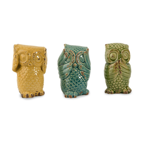 IMAX Worldwide Home - Wise Owls - Set of 3 - 69230-3