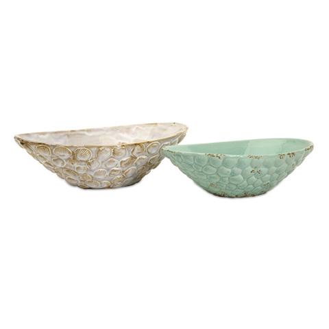 IMAX Worldwide Home - Seashell Serving Bowls - Set of 2 - 69257-2