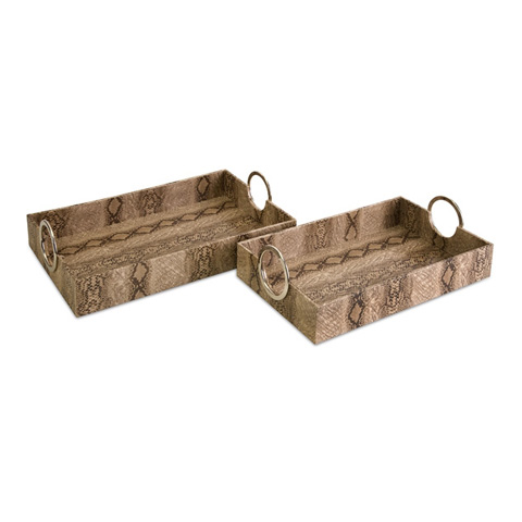 IMAX Worldwide Home - Castel Trays - Set of 2 - 70612-2