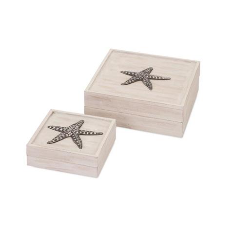 IMAX Worldwide Home - Daphney Coastal Boxes - Set of 2 - 71115-2