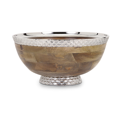 IMAX Worldwide Home - Mango Wood Pedestal Bowl - 71780