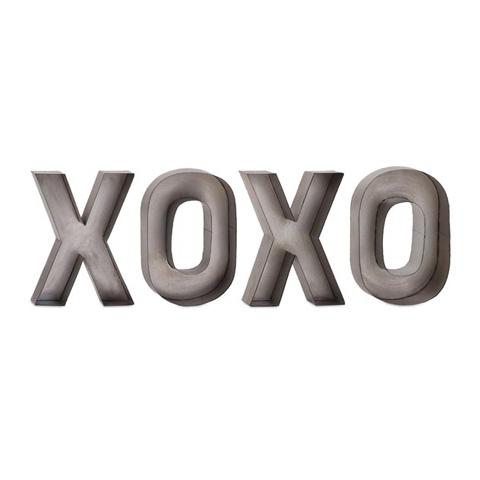 IMAX Worldwide Home - XOXO Metal Wall Decor - 72163