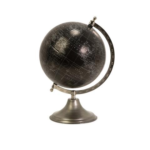 IMAX Worldwide Home - Moonlight Globe With Nickel Finish Stand - 73023
