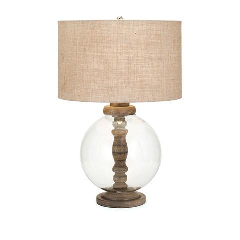IMAX Worldwide Home - Mahin Wood and Glass Lamp - 73412
