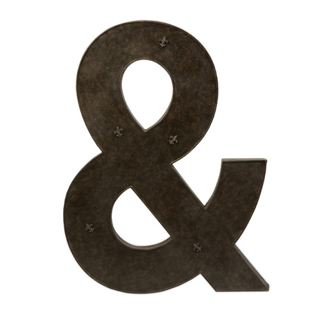 IMAX Worldwide Home - Ampersand Metal Magnet Board with Magnets - 74078