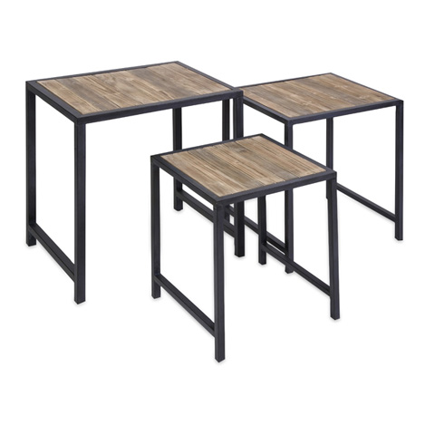 IMAX Worldwide Home - IK Groveport Nesting Tables-Set of 3 - 74145-3