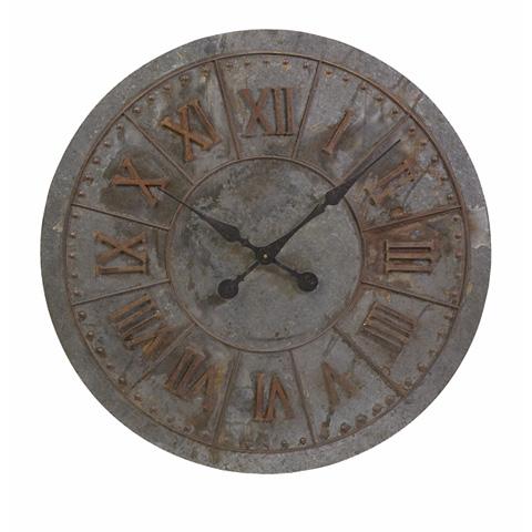 IMAX Worldwide Home - Gilbert Galvanized Clock - 74225