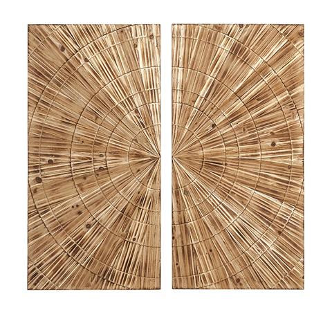 IMAX Worldwide Home - Boyd Carved Wood Wall Decor - 74298