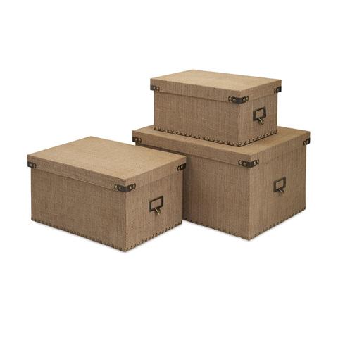IMAX Worldwide Home - Corbin Storage Boxes - Set of 3 - 74412-3