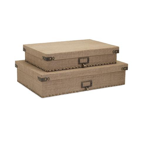 IMAX Worldwide Home - Corbin Document Boxes - Set of 2 - 74417-2