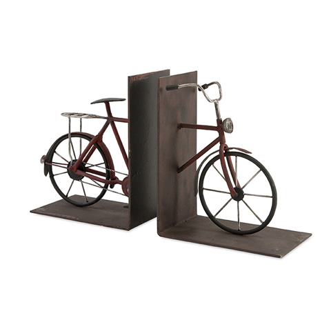 IMAX Worldwide Home - Renee Bicycle Book Ends - Set Of 2 - 74435-2